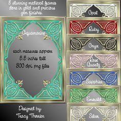 Medieval Frames - $1.99   DELIGHTFUL-DOODLES.COM  Designer and crafting resources.
