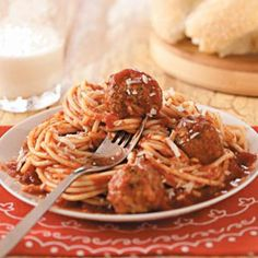 Italian Spaghetti and Meatballs Recipe from Taste of Home -- shared by Etta Winter of Pavillion, New York
