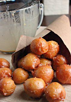 Salted Caramel Glazed Doughnut Holes