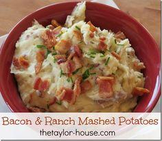 Cheesy Bacon & Ranch Mashed Potato Recipe