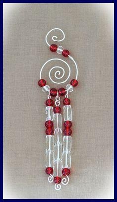 Free Beaded Christmas Ornament Patterns | Free Tutorial for Wire and Bead Christmas Ornament http://lorifellows ...