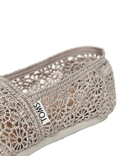 OK, so these aren't vintage...I still love them! COTTON CROCHET LOAFERS -