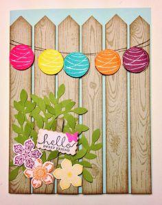 Super cute idea! Use the Hardwood stamp to create a fence!