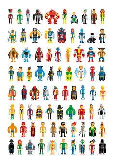 pixel heroes.