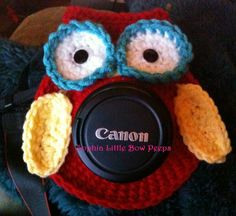 Owl Camera Lens Buddy with Squeaker. $15.00, via Etsy.