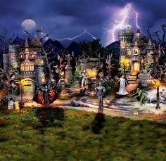 Universal Studios Monsters Halloween Village Collection: 'Dr. Frankenstein's Castle' ($69.99)