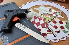 Little Birdie Secrets: {last minute christmas decorations} 3D paper star wreath tutorial