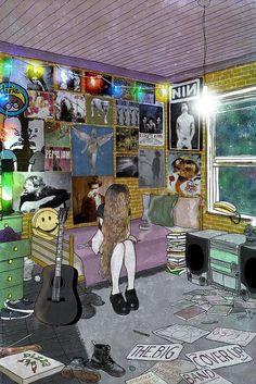Grunge room girl