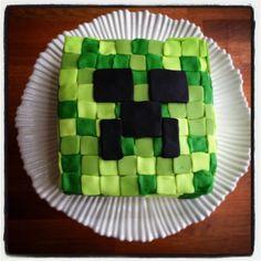 #homemade #minecraft birthday #cake