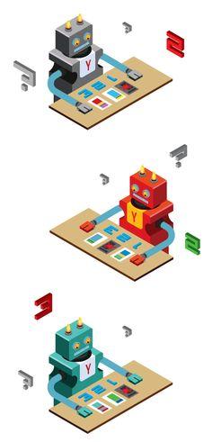 Illustrations for Yandex #2 on Behance