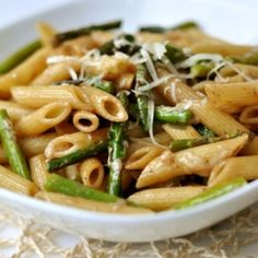 penne w/ roasted asparagus + balsamic butter