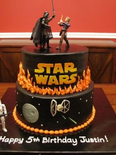 """Top Star Wars Cakes..  Instead of happy birthday put """"may the force be with you forever""""..."""