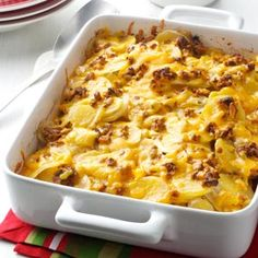 Sun-Dried Tomato Scalloped Potatoes Recipe from Taste of Home