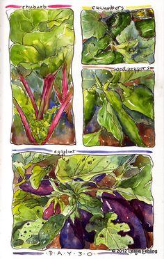 challeng, watercolour sketchbook