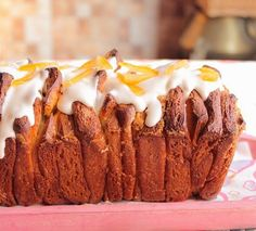 Orange Pull Apart Bread with Orange Cream Cheese Glaze