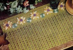 Water lily place mat from Free Vintage Crochet