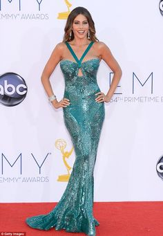 Sofia Vergara in a glittery mermaid number at The Emmy Awards