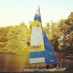 photo by laceemoore_394: #sailboat #lake #codorus #sails #sailboatlaunch