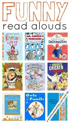 10 funny chapter books to read aloud to kids.