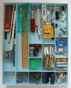 Organizing office supplies