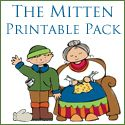 The Mitten Pre-K Printables (to go along with the book, The Mitten by Jan Brett)
