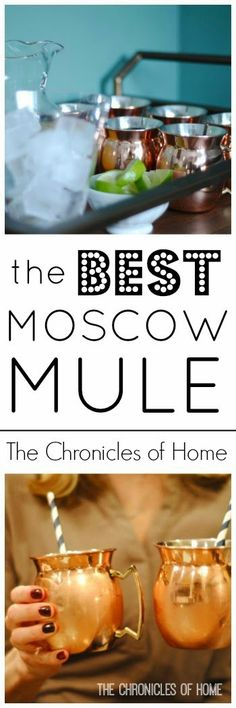 The Chronicles of Home: Copper Mugs + The Best Moscow Mule Recipe + a Giveaway!