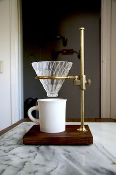 The Brass Clerk V60 Coffee Pour Over Stand by TheCoffeeRegistry