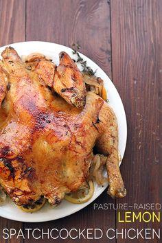 (Pasture-Raised) Lemon Spatchcocked Chicken