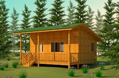 Wilderness Cabin Plan - roof design for shed