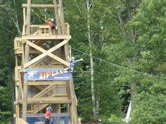 Zipline at Loon Mountain
