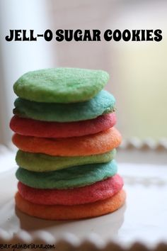Jell-O Sugar Cookies | Bargain Brianna.  This #recipe and more on the #Christmas Sugar, Spice and Everything Nice #Cookie Round-Up