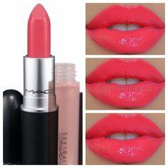 lipsticks, mac watch, fashion, summer lipstick colors, nail
