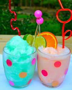 Lime and Orange Sherbet Floats Recipe