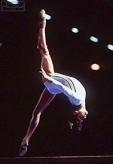 On July 18, 1976 Nadia Comaneci becomes the first gymnast in Olympic history to score a perfect 10.