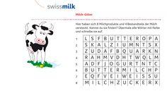 Arbeitsblätter von Swissmilk - Kindergarten