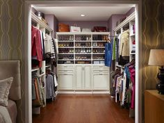 A Place for Everything - How to Make Your Walk-In Closet Resemble a Chic Boutique on HGTV