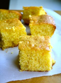 The End-All of Cornbreads... it's cornbread mixed with yellow cake mix. No one has to know your secret but... it's the BEST cornbread you will ever eat!! This is what they do at Disneyland.