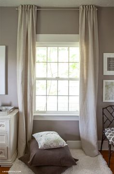 DIY: How to Sew Back Tab Curtains | Lia Griffith