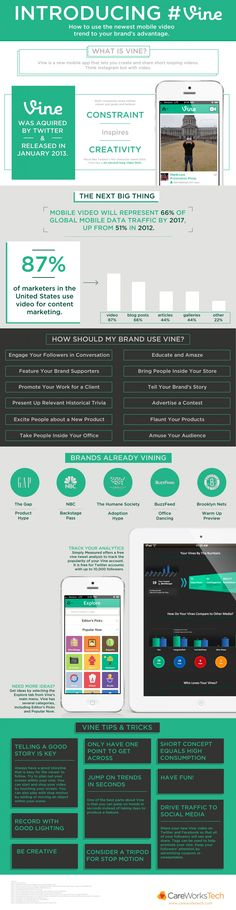 Why #Vine Is The Next Big Thing For Brands #INFOGRAPHIC #smbiz