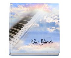 Registry Book Ivory Guest Book Hardcover 8x8 Gloss with Photo, optional