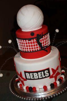 Volleyball cake 1