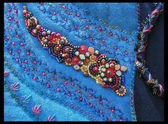 art textil, felt, textil art, beadwork, bead detail, bead embroideri, fiber art, beaded embroidery, crazi quilt