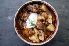 Beef and Barley Stew with Mushrooms Recipe | Simply Recipes