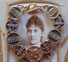 1800's antique Victorian button bracelet, jewelry jewellery. by AlliesAdornments, via Flickr