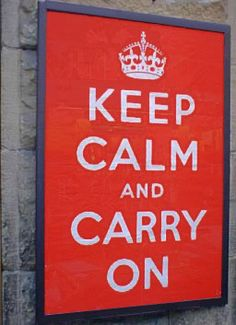 Keep Calm and Carry On (Barter Books)