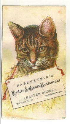 Vintage Trade Card Habenstein's Restaurant, Hartford