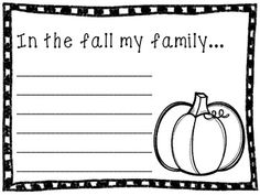 Fall Writing Papers- 5 different prompts with some variety of each (13 pages total). Use one a morning for a whole week of fall writing, or as a weekly center. Great for early finishers! Makes a nice bulletin board or fall class book.