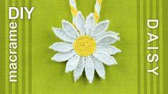 How to Make a Macrame Daisy Flower - Tutorial