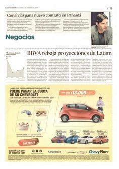 Conalvias gana luevo contrato en Panamá. Noticia del diario Portafolio.  Andres Jaramillo Lopez Presidente de Conalvias