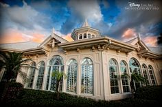 A gorgeously dramatic shot of the backside of Disney's Wedding Pavilion #Disney #Wedding #Pavilion